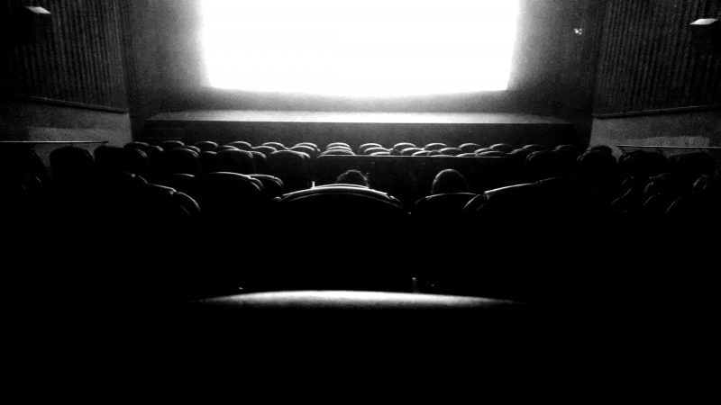 theatre in black and white